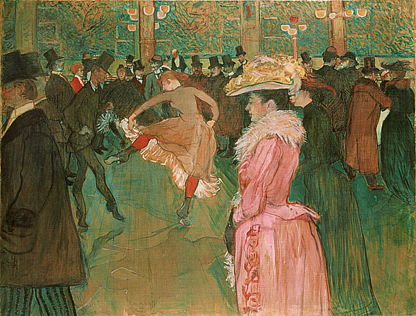 羅德列克 Toulouse Lautrec Henri de跳舞練習 At The Moulin Rouge-The Dance