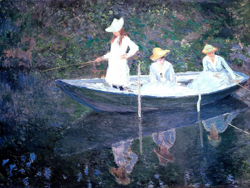 Claude Oscar Monet - In the Norvegienne Boat at Giverny, 1887