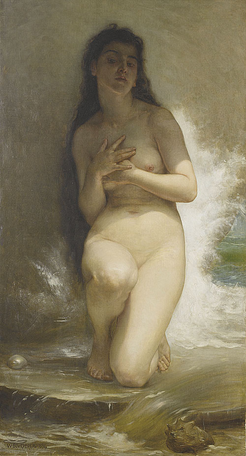 鮑格雷奧 Bouguereau Adolphe William 珍珠 La Perle