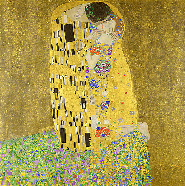 克林姆 Klimt Gustav吻 The Kiss (Le Baiser)