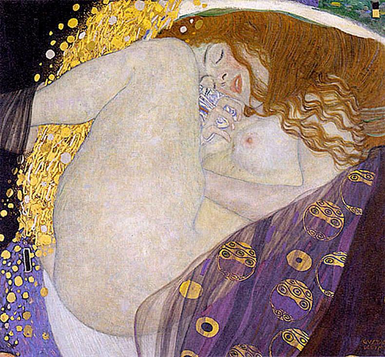克林姆 Klimt Gustav戴納漪 Danae2