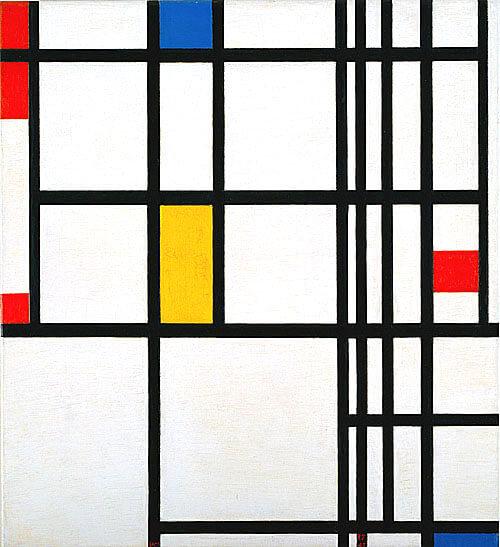 紅、藍和黃的構成