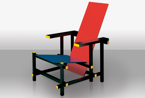 Cassina-Red-and-Blue-Chair-Gerrit-Thomas-Rietveld