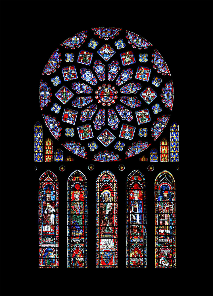 Chartres_-_cathédrale_-_rosace_nord