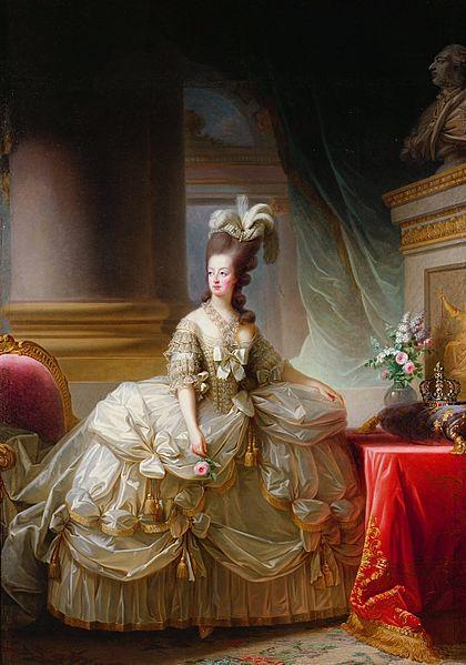 Marie Antoinette in Court Dress by Vigée-Lebrun 1778