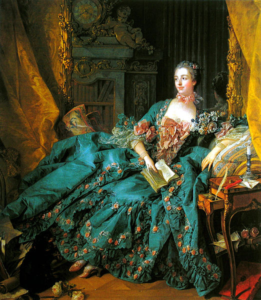 Portrait of Madame de Pompadour by Boucher 1756