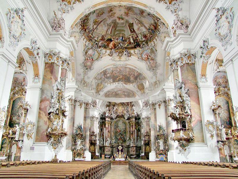 The Rococo Basilica at Ottobeuren