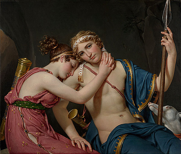 大衛 David Jacques Louis 特勒馬科斯和歐夏麗斯的告別 The Farewell of Telemachus and Eucharis - 複製