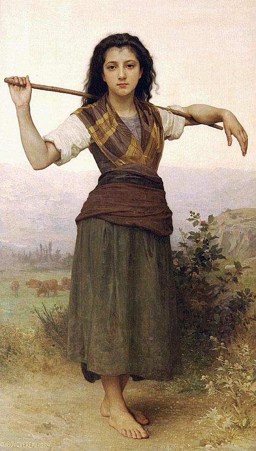 鮑格雷奧 Bouguereau Adolphe William 牧羊女2 The Shepherdess2